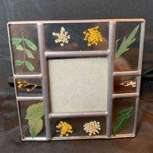 Stained Glass Pressed Flower Picture Photo Frame